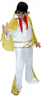 Elvis King Of Rock Fancy Dress Costume